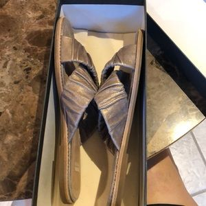 Eileen Fisher Shoes - COPY - Eileen Fisher gold sandals. With box. Worn…